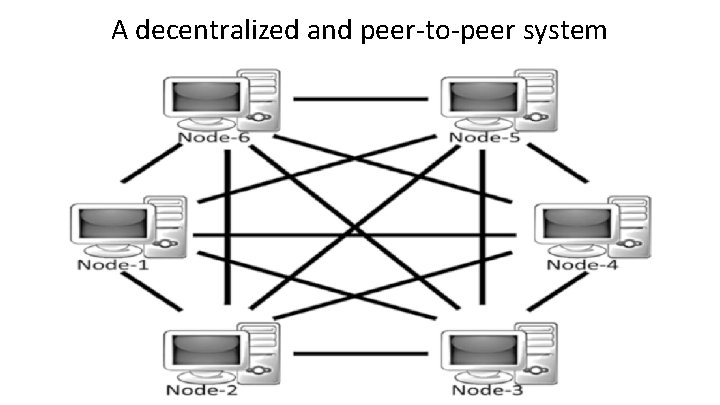 A decentralized and peer-to-peer system