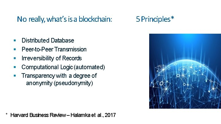 No really, what's is a blockchain: Distributed Database Peer-to-Peer Transmission Irreversibility of Records Computational