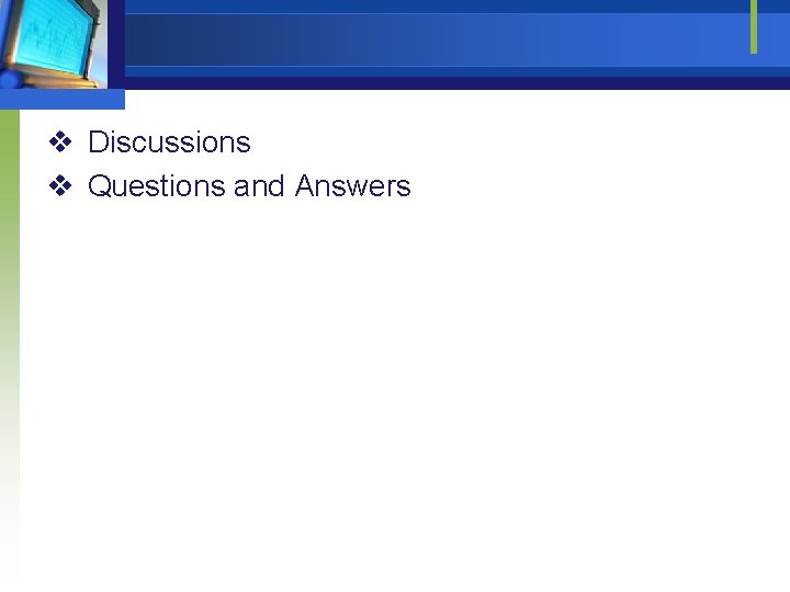 v Discussions v Questions and Answers