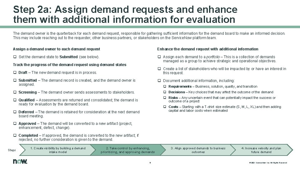 Step 2 a: Assign demand requests and enhance them with additional information for evaluation