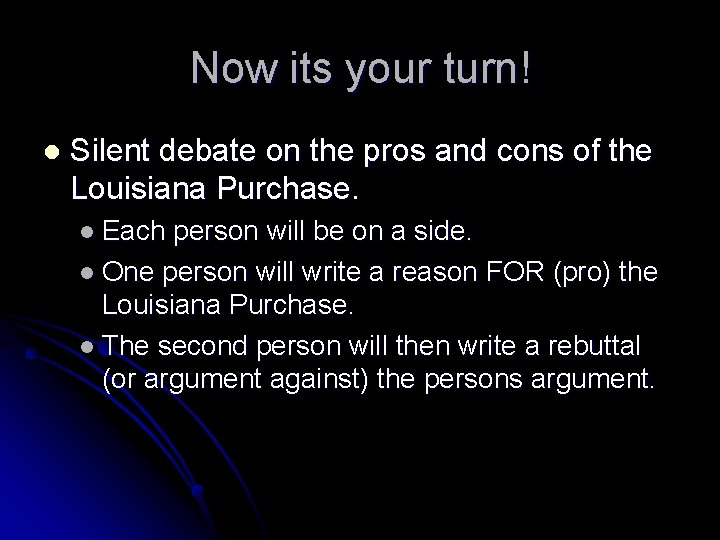 Now its your turn! l Silent debate on the pros and cons of the