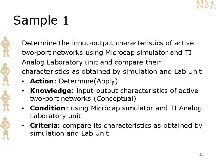 Sample 1 Determine the input-output characteristics of active two-port networks using Microcap simulator and
