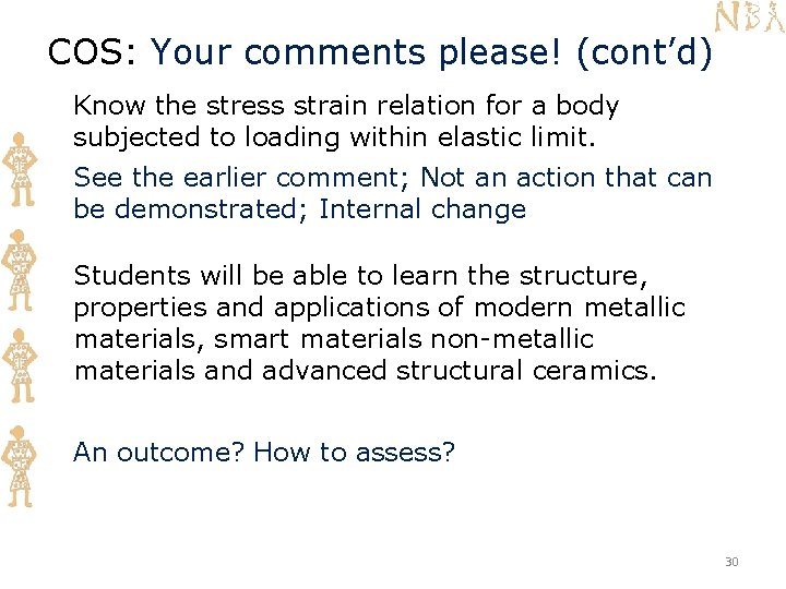 COS: Your comments please! (cont'd) Know the stress strain relation for a body subjected