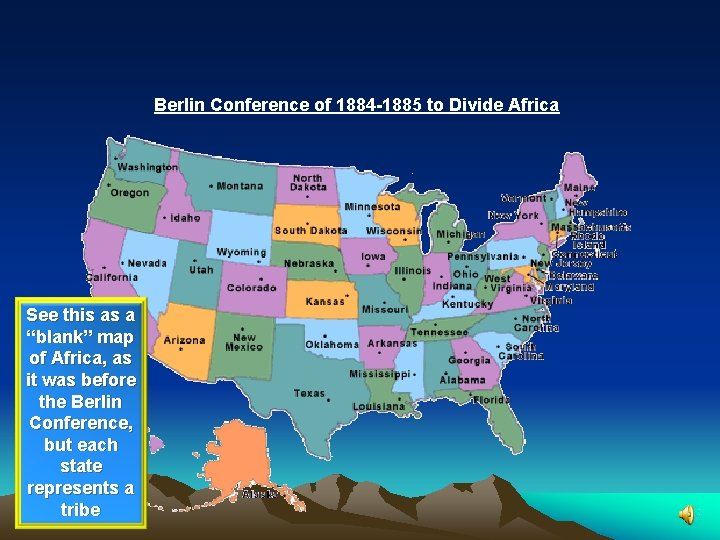 """Berlin Conference of 1884 -1885 to Divide Africa See this as a """"blank"""" map"""