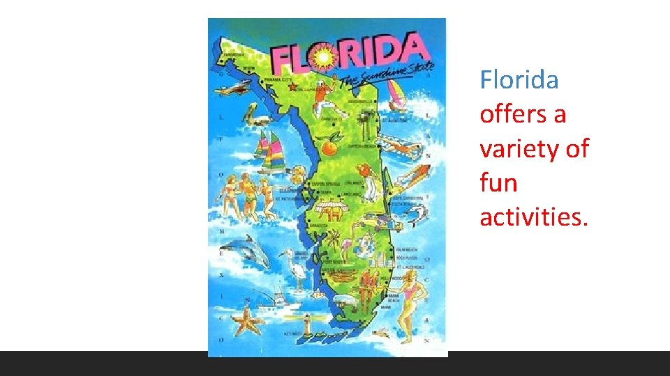 Florida offers a variety of fun activities.