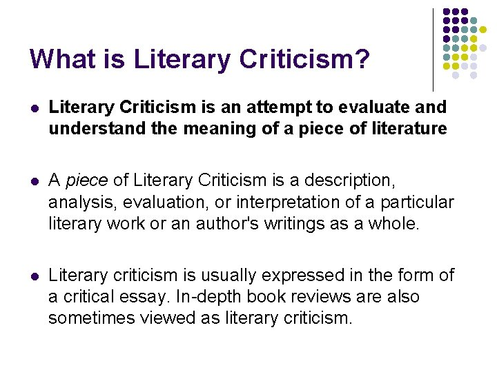 what is the definition of literary analysis