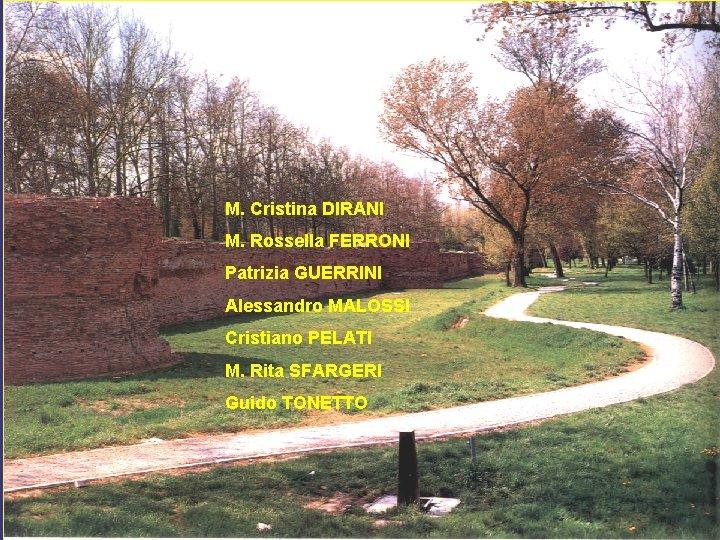 M. Cristina DIRANI M. Rossella FERRONI Patrizia GUERRINI Alessandro MALOSSI Cristiano PELATI M. Rita