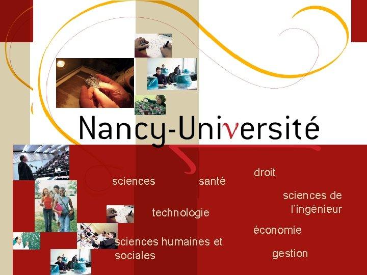 Licence sciences et technologie Sciences du Vivant sciences santé technologie sciences humaines et sociales