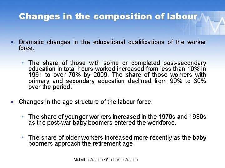 Changes in the composition of labour § Dramatic changes in the educational qualifications of