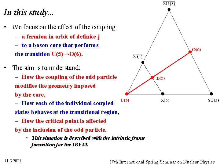 In this study. . . • We focus on the effect of the coupling