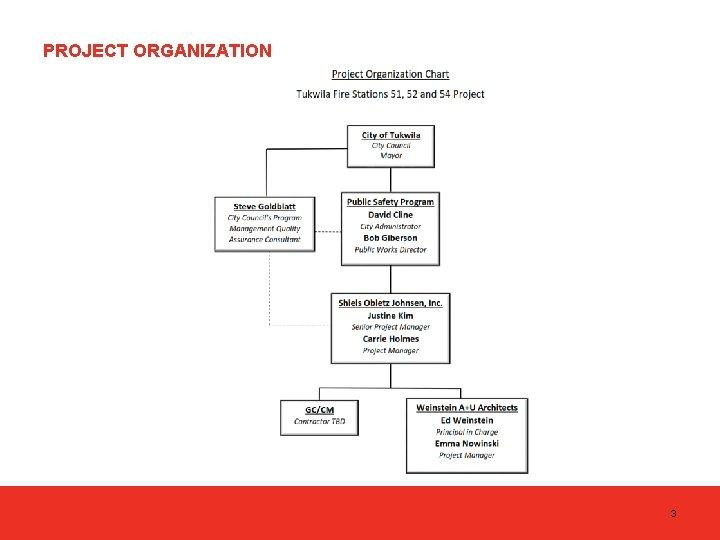 PROJECT ORGANIZATION 3