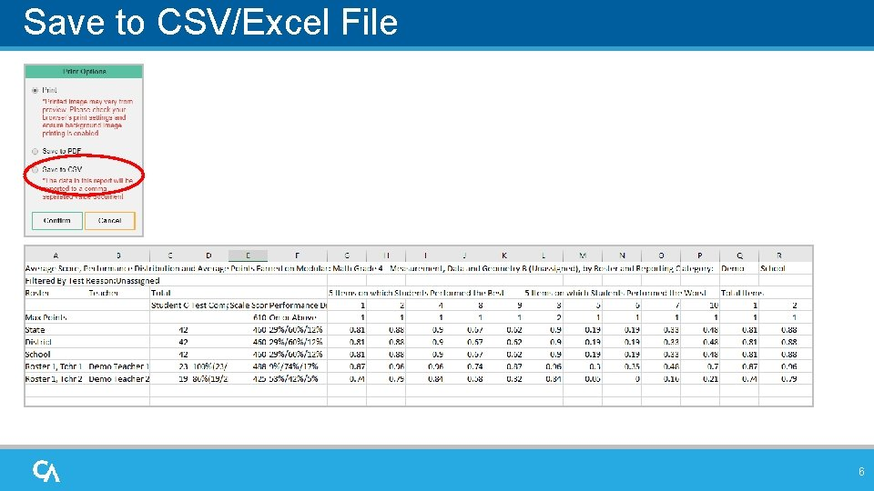 Save to CSV/Excel File 6