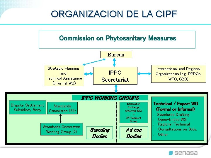 ORGANIZACION DE LA CIPF Commission on Phytosanitary Measures Bureau Strategic Planning and Technical Assistance
