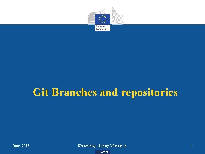 Git Branches and repositories June, 2018 Knowledge sharing Workshop Eurostat 1