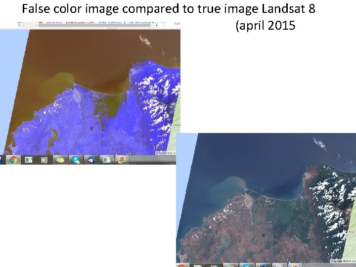 False color image compared to true image Landsat 8 (april 2015
