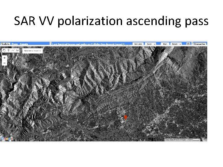 SAR VV polarization ascending pass