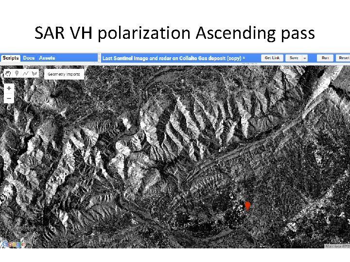 SAR VH polarization Ascending pass
