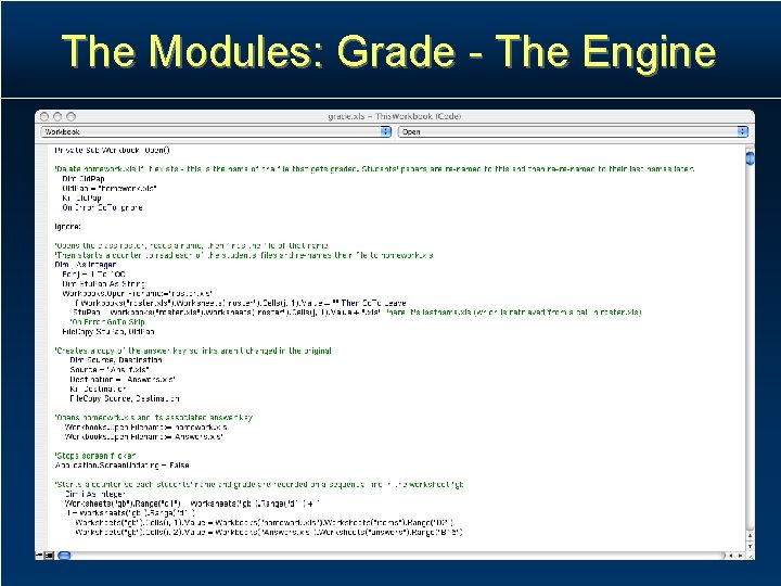 The Modules: Grade - The Engine