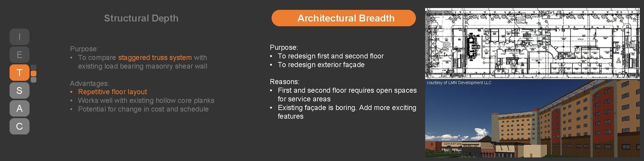 Structural Depth Architectural Breadth I E T S A C Purpose: • To compare