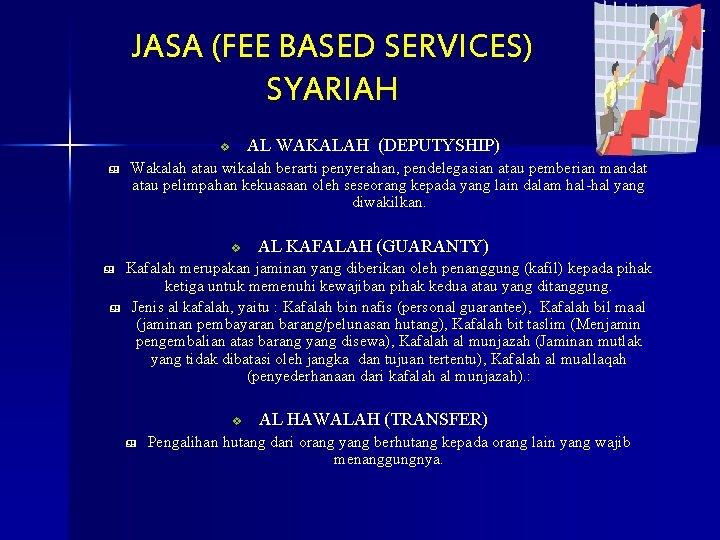 JASA (FEE BASED SERVICES) SYARIAH AL WAKALAH (DEPUTYSHIP) v & Wakalah atau wikalah berarti