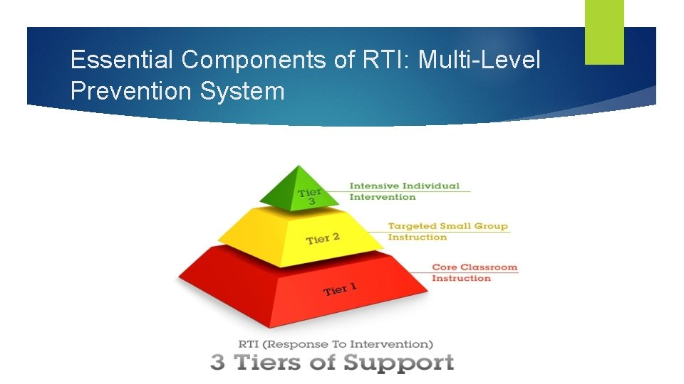 Essential Components of RTI: Multi-Level Prevention System