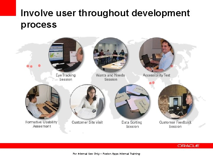 Involve user throughout development process • Observe/interview the user doing their current job. •