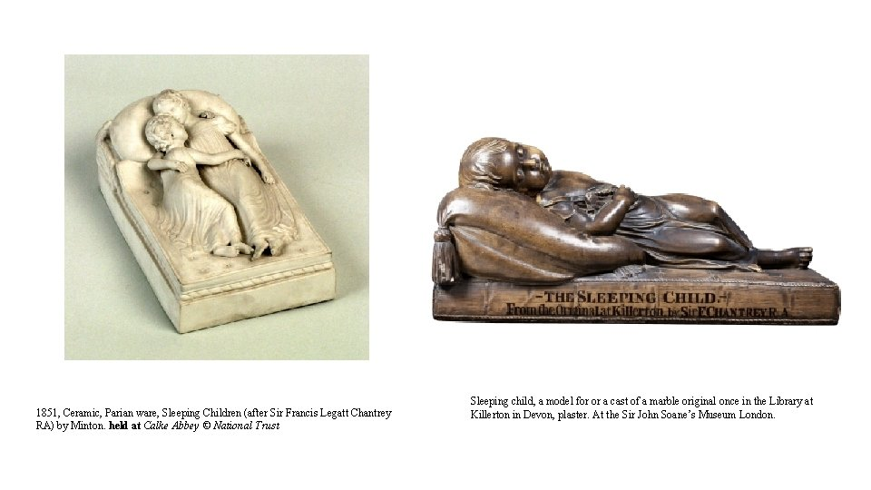 1851, Ceramic, Parian ware, Sleeping Children (after Sir Francis Legatt Chantrey RA) by Minton.