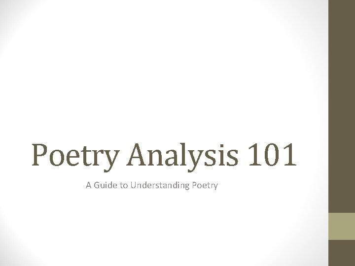 Poetry Analysis 101 A Guide to Understanding Poetry