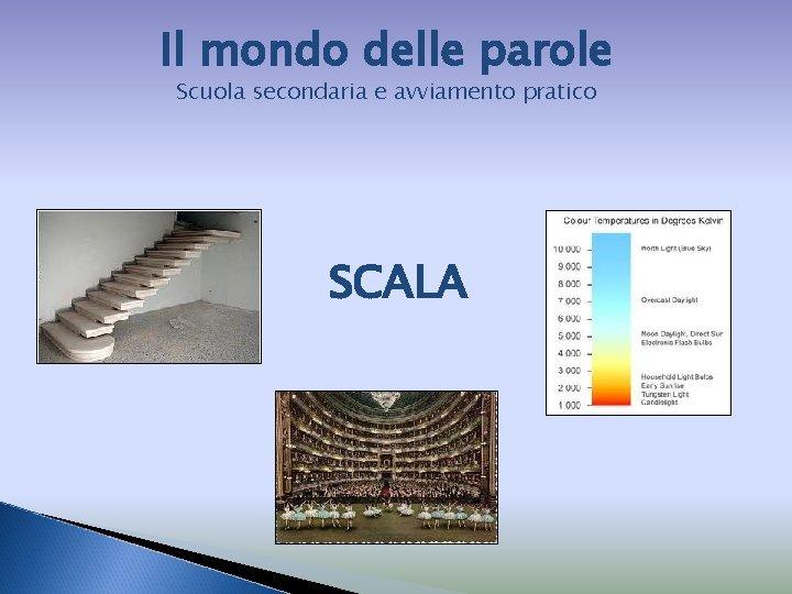 Il mondo delle parole Scuola secondaria e avviamento pratico SCALA