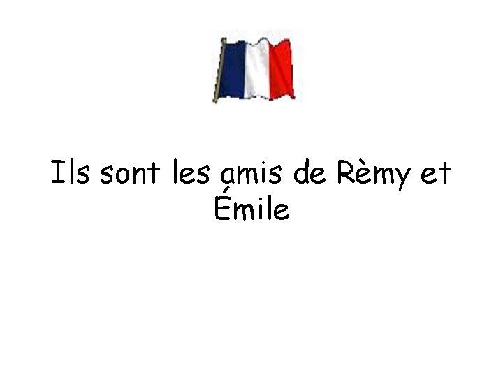 Ils sont les amis de Rèmy et Émile