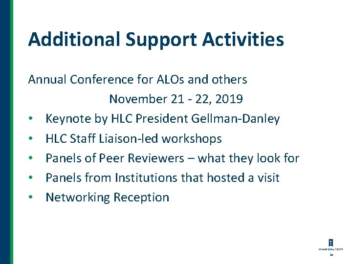 Additional Support Activities Annual Conference for ALOs and others November 21 - 22, 2019