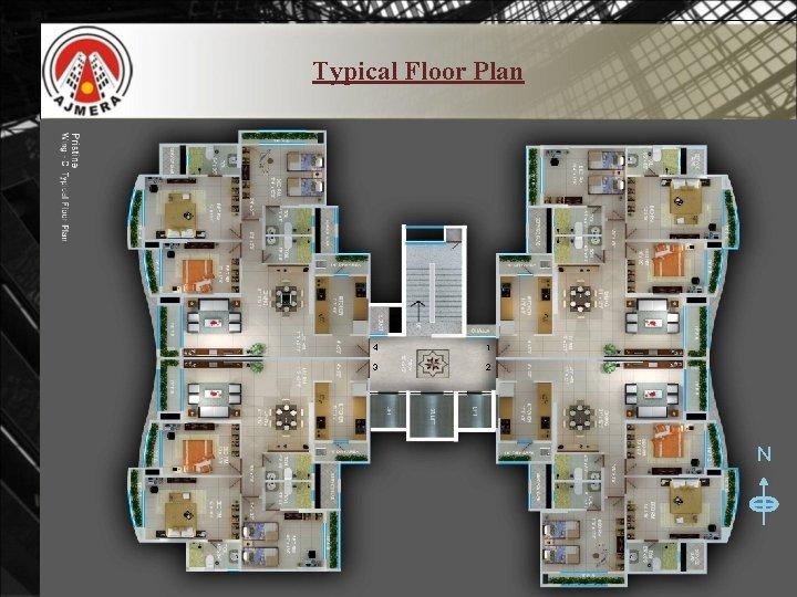 Typical Floor Plan 4 1 3 2 N
