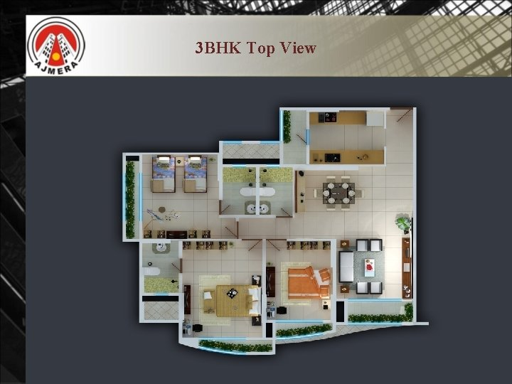 3 BHK Top View