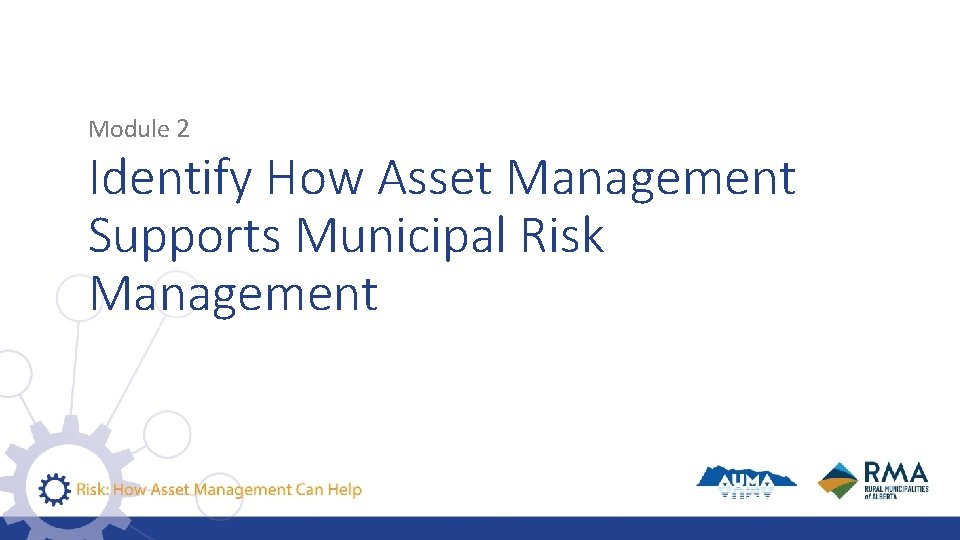 Module 2 Identify How Asset Management Supports Municipal Risk Management