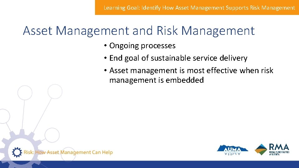 Learning Goal: Identify How Asset Management Supports Risk Management Asset Management and Risk Management