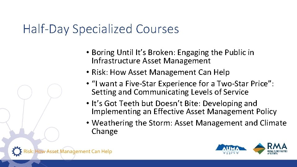 Half-Day Specialized Courses • Boring Until It's Broken: Engaging the Public in Infrastructure Asset