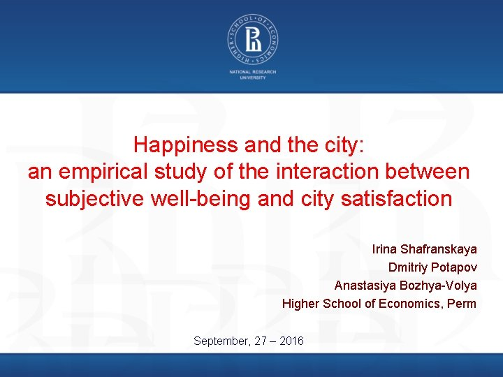 Happiness and the city: an empirical study of the interaction between subjective well-being and