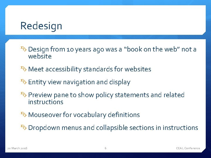 """Redesign Design from 10 years ago was a """"book on the web"""" not a"""