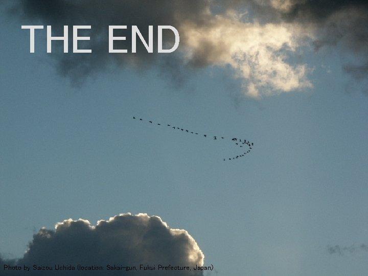 THE END Photo by Saizou Uchida (location: Sakai-gun, Fukui Prefecture, Japan)