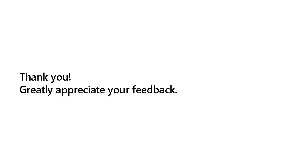 Thank you! Greatly appreciate your feedback.
