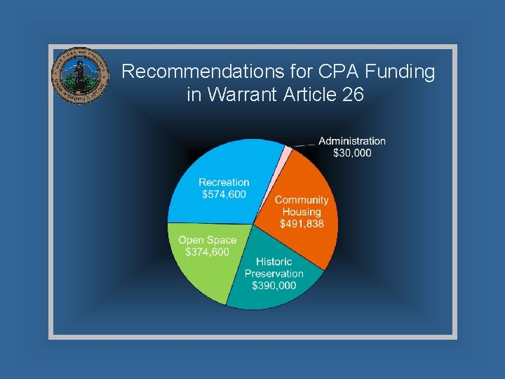 Recommendations for CPA Funding in Warrant Article 26
