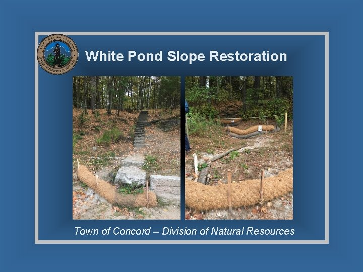 White Pond Slope Restoration Town of Concord – Division of Natural Resources