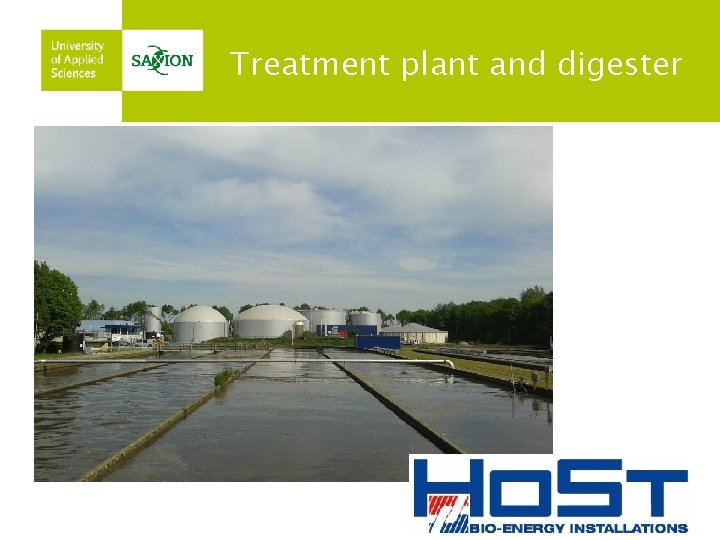 Treatment plant and digester