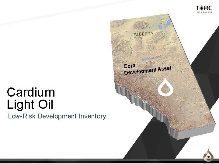 ALBERTA Core Asset t n e m p lo e Dev Cardium Light Oil