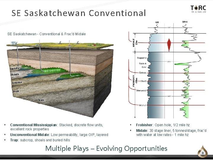 SE Saskatchewan Conventional SE Saskatchewan - Conventional & Frac'd Midale Ratcliffe Midale Frobishe r