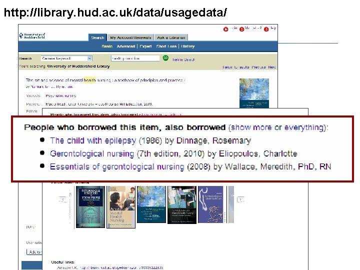 http: //library. hud. ac. uk/data/usagedata/ Stellenbosch, February 2010