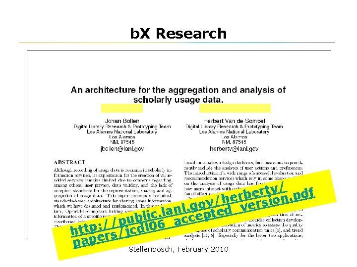 b. X Research v/ df t r e b. p er n h o