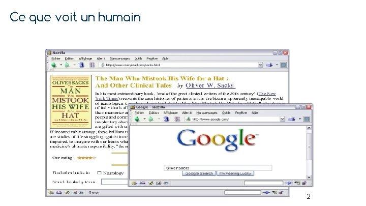 Ce que voit un humain 2