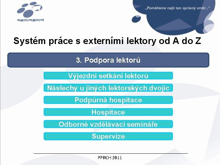 Systém práce s externími lektory od A do Z 3. Podpora lektorů Výjezdní setkání