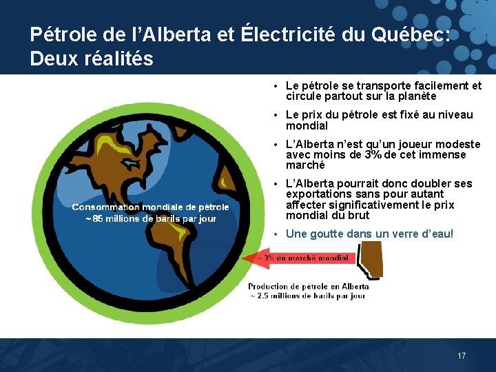 Pétrole de l'Alberta et Électricité du Québec: Deux réalités • Le pétrole se transporte